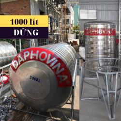Bồn nước inox 1000 lít đứng Daphovina chất lượng  bán tại Nha trang, Diên khánh , Ninh hòa, Cam ranh, Khánh hòa
