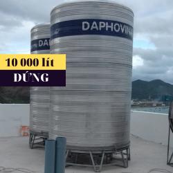 Bồn nước inox 10 000 lít đứng Daphovina chất lượng  bán tại Nha trang, Diên khánh, Ninh hòa, Cam ranh, Khánh hòa
