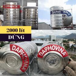 Bồn nước inox 2000 lít đứng Daphovina chất lượng  bán tại Nha trang, Diên khánh , Ninh hòa, Cam ranh, Khánh hòa
