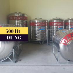 Bồn nước inox 500 lít đứng Daphovina chất lượng bán tại Nha trang, Diên khánh , Ninh hòa, Cam ranh, Khánh hòa