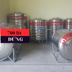 Bồn nước inox 700 lít đứng Daphovina chất lượng bán tại Nha trang, Diên khánh , Ninh hòa, Cam ranh, Khánh hòa