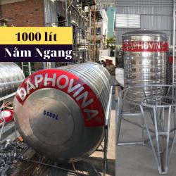 Bồn nước inox 1000 lít ngang Daphovina chất lượng  bán tại Nha trang , Diên khánh , Ninh hòa, Cam ranh, Khánh hòa