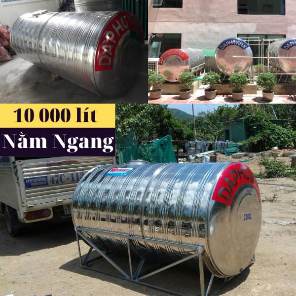 Bồn nước inox 10 000 lít ngang Daphovina chất lượng  bán tại Nha trang, Diên khánh , Ninh hòa, Cam ranh, Khánh hòa