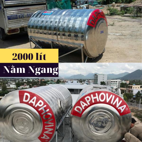 Bồn nước inox 2000 lít ngang Daphovina chất lượng  bán tại Nha trang , Diên khánh , Ninh hòa, Cam ranh, Khánh hòa