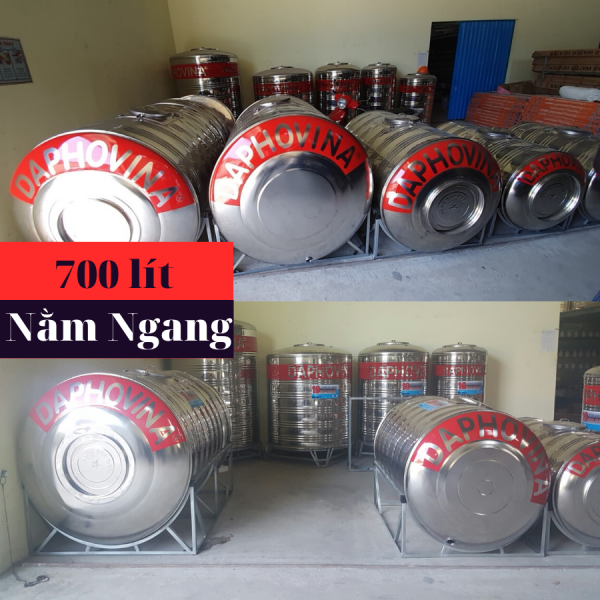 Bồn nước inox 700 lít ngang Daphovina chất lượng bán tại Nha trang , Diên khánh , Ninh hòa, Cam ranh, Khánh hòa