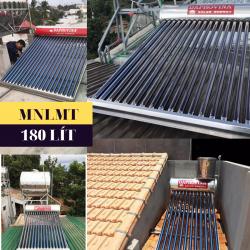 Máy nước nóng năng lượng mặt trời 180 lít Daphovina chất lượng bảo hành  ở nha trang, diên khánh, cam ranh, ninh hòa, khánh hòa