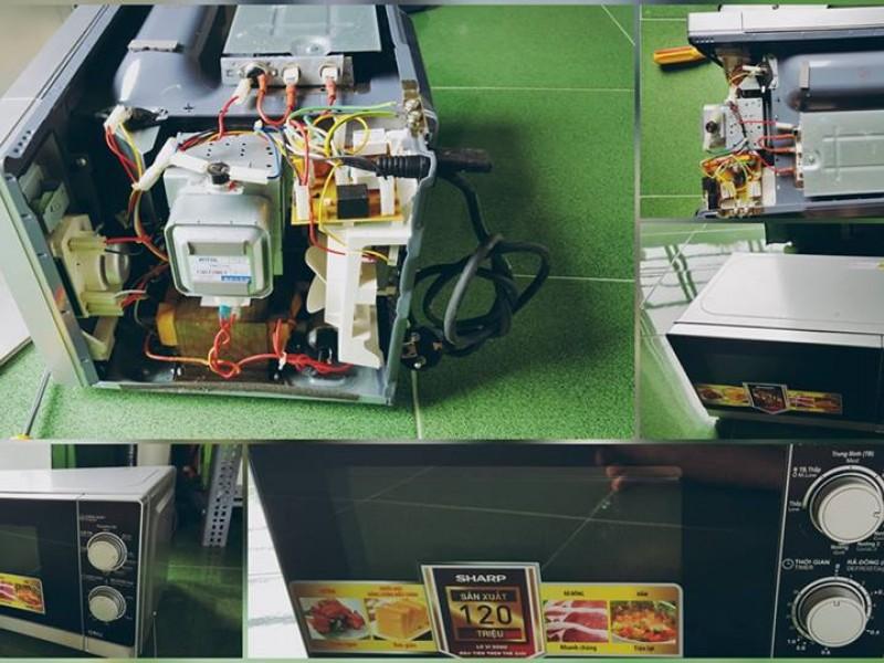 Sửa chữa lò vi sóng lò nướng tại nhà ở nha trang khánh hòa