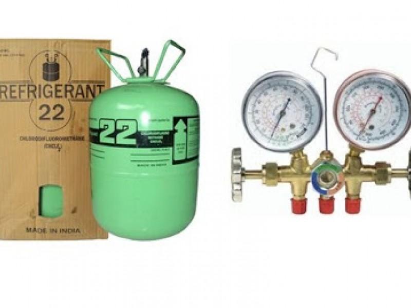 Hướng dẫn nạp ga máy lạnh, tủ lạnh, điều hòa, cách đo dòng điện và áp suất Gas R22, R410A, R404A, R134A, R407C, R507C, R600A