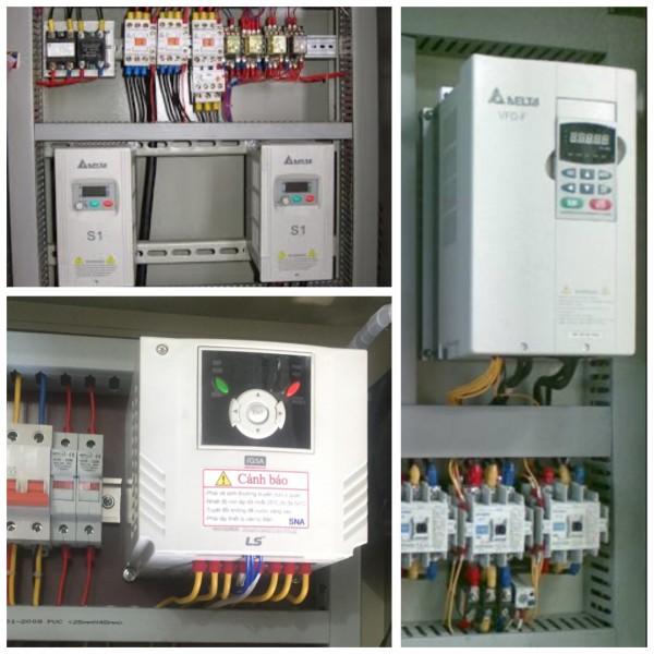 Lắp đặt tủ điện điều khiển cẩu trục nâng hàng bằng biến tần ở Nha trang