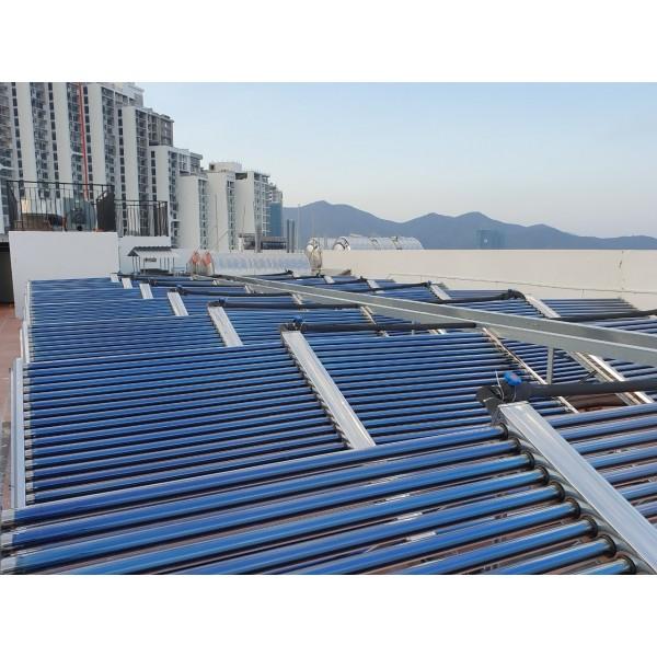 Lắp đặt hệ thống nước nóng năng lượng mặt trời trung tâm 10000 lít Daphovina chất lượng bảo hành lâu dài