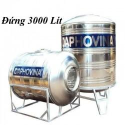 Bồn nước inox 3000 lít đứng Daphovina chất lượng bán tại Nha trang, Diên khánh , Ninh hòa, Cam ranh, Khánh hòa