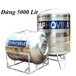 Bồn nước inox 5000 lít đứng Daphovina chất lượng bán tại Nha trang, Diên khánh , Ninh hòa, Cam ranh, Khánh hòa