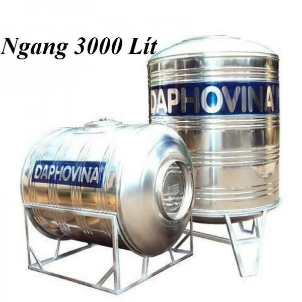 Bồn nước inox 3000 lít ngang Daphovina chất lượng bán tại Nha trang , Diên khánh , Ninh hòa, Cam ranh, Khánh hòa