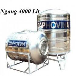 Bồn nước inox 4000 lít ngang Daphovina chất lượng bán tại Nha trang , Diên khánh , Ninh hòa, Cam ranh, Khánh hòa