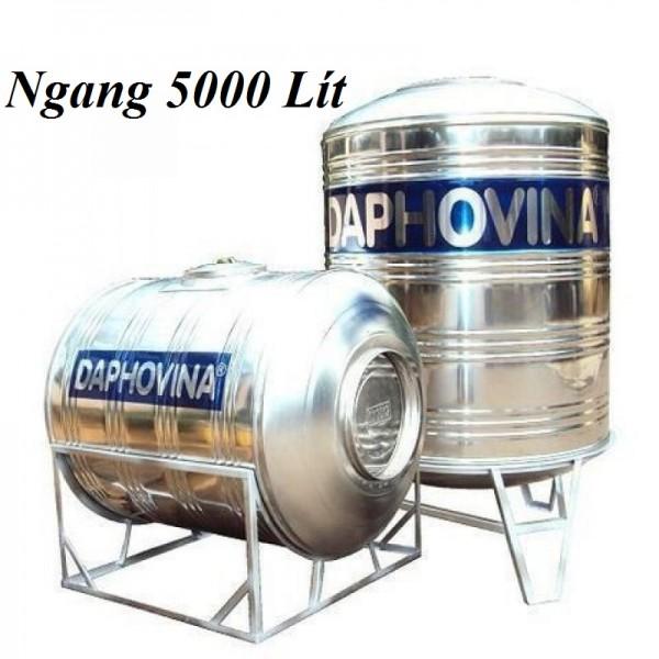 Bồn nước inox 5000 lít ngang Daphovina chất lượng bán tại Nha trang , Diên khánh , Ninh hòa, Cam ranh, Khánh hòa