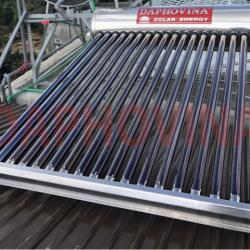 Lắp đặt hệ thống nước nóng năng lượng mặt trời trung tâm 3000 lít Daphovina chất lượng bảo hành lâu dài